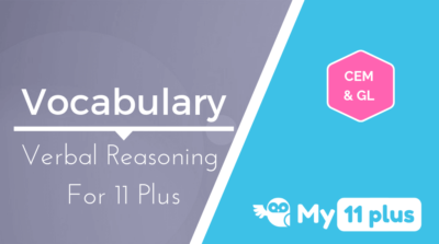 Best courses for 11 Plus exam Verbal Reasoning Vocabulary