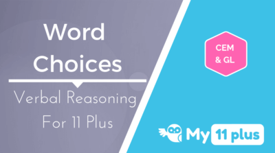 Best courses for 11 Plus exam Verbal Reasoning Word Choices