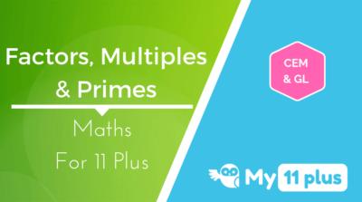 Best courses for 11 Plus exam Maths Factors