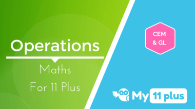 Best courses for 11 Plus exam Maths Operations
