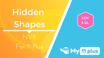 Best courses for 11 Plus exam NVR Hidden Shapes