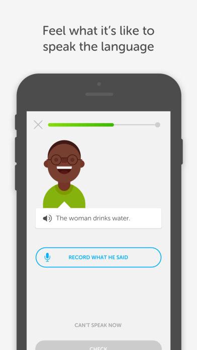 Best app to learn a language Duolingo